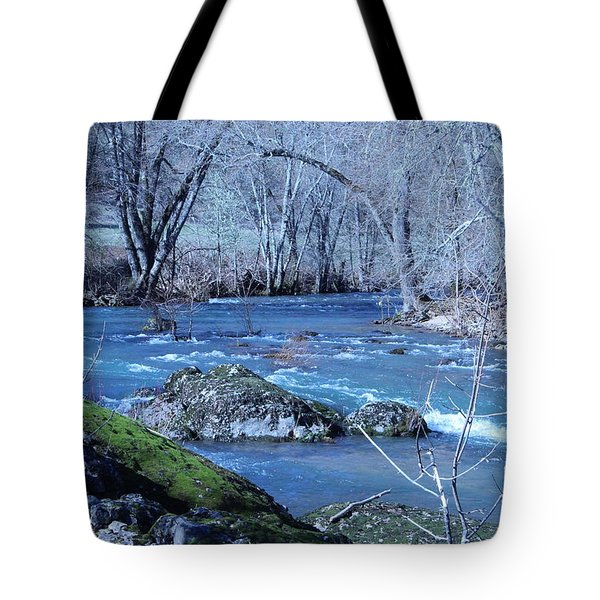 Tote Bag featuring the photograph Elk Creek Wonderland by Marie Neder