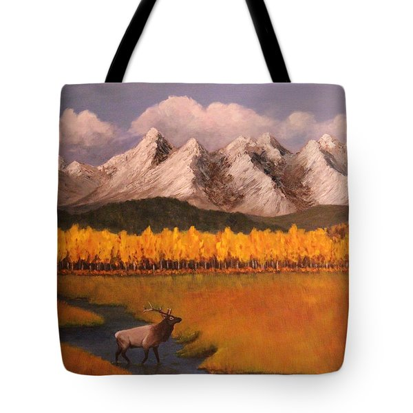 Elk Crossing Tote Bag