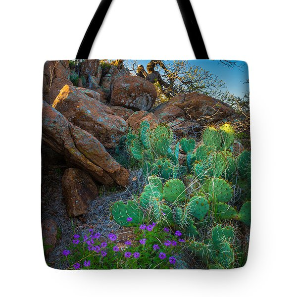 Elk Mountain Flowers Tote Bag