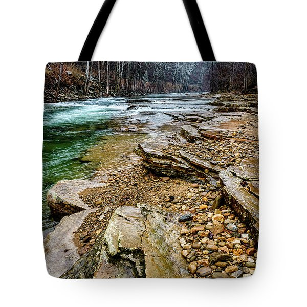 Tote Bag featuring the photograph Elk River In The Rain by Thomas R Fletcher
