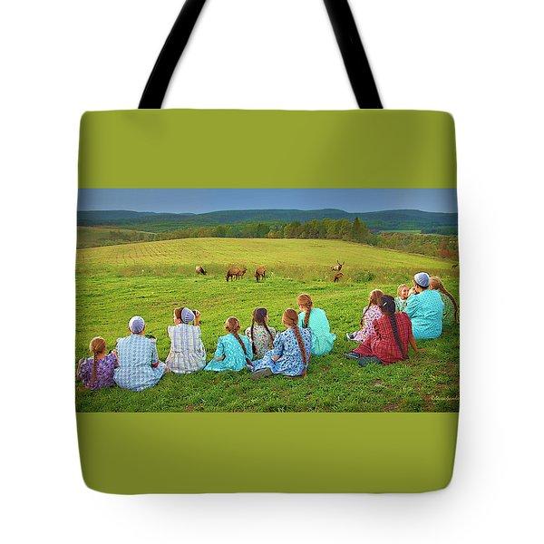 Elk Watch Tote Bag