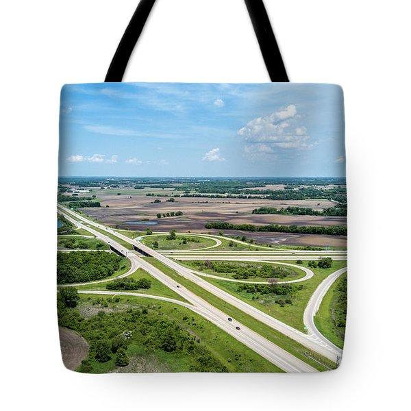 Tote Bag featuring the photograph Elkhorn Cloverleaf by Randy Scherkenbach