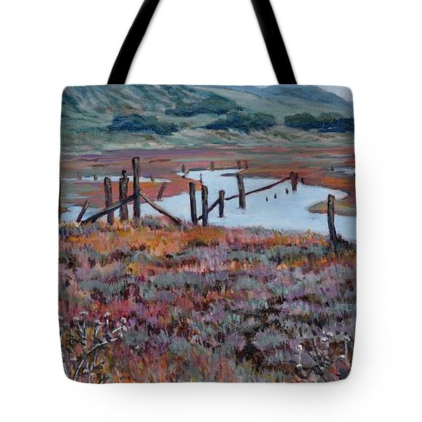 Elkhorn Slough Morning Tote Bag