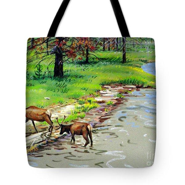 Elks Crossing Tote Bag