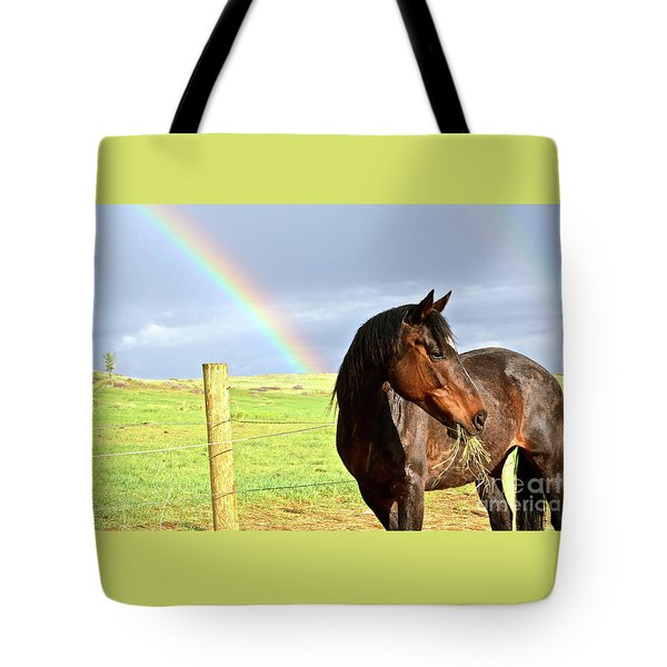 Ella And The Rainbows Tote Bag