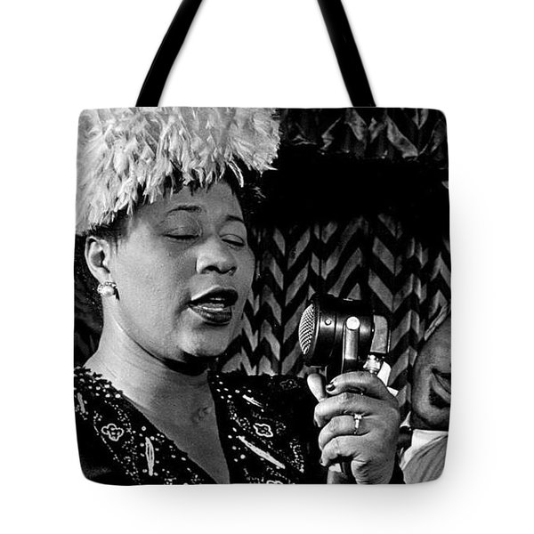 Ella Fitzgerald Dizzy Gillespie And Ray Brown William Gottlieb Photo Nyc 1947-2015 Tote Bag