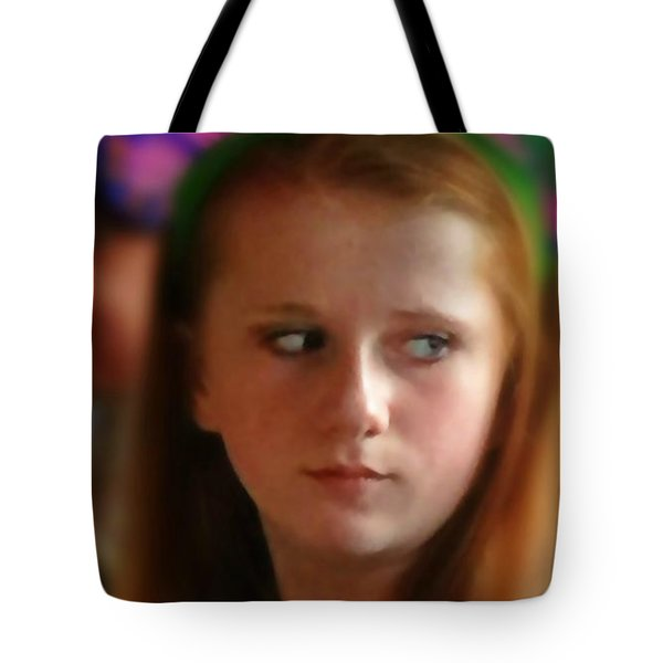 Tote Bag featuring the painting Ella by Mindy Newman
