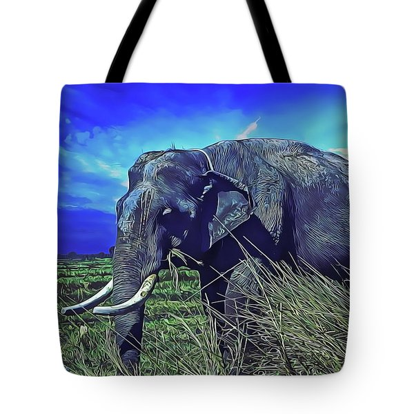 Tote Bag featuring the painting Elle by Harry Warrick