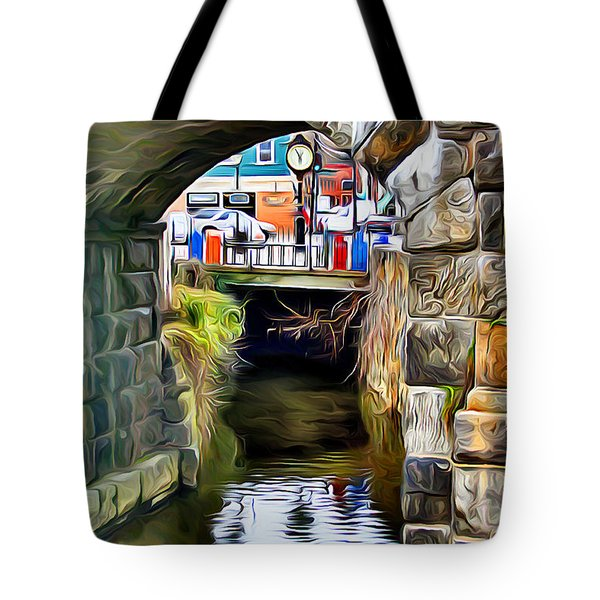 Ellicott City Bridge Arch Tote Bag by Stephen Younts