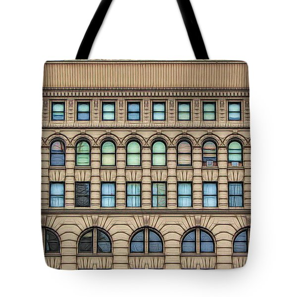 Ellicott Square Building Buffalo Ny Ink Sketch Effect Tote Bag