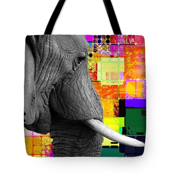 Tote Bag featuring the digital art Ellie 2017 by Kathryn Strick