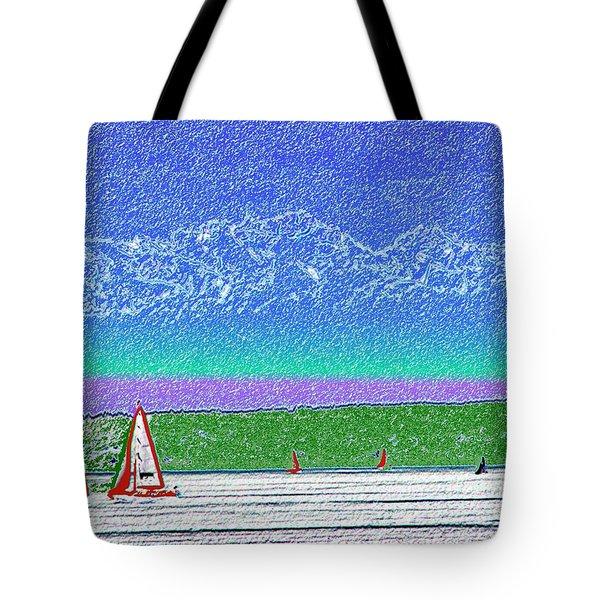 Elliott Bay Sail Tote Bag by Tim Allen