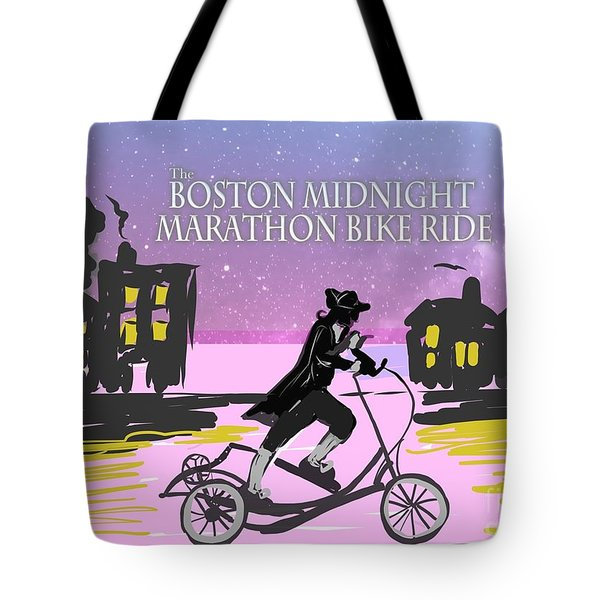 elliptigo meets the Midnight Ride Tote Bag