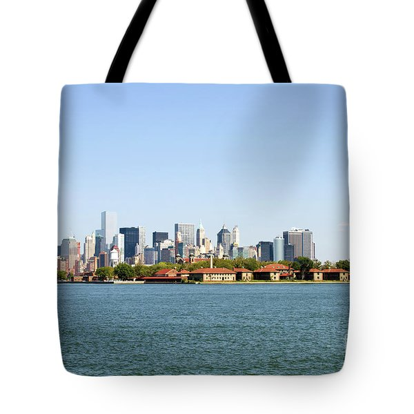 Tote Bag featuring the photograph Ellis Island New York City by Steven Frame