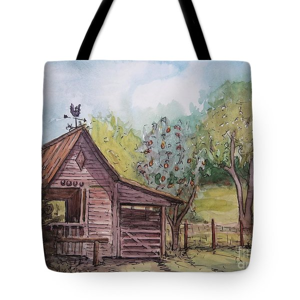 Elma's Horse Barn Tote Bag by Gretchen Allen