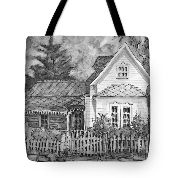 Elma's House In Bw Tote Bag by Gretchen Allen