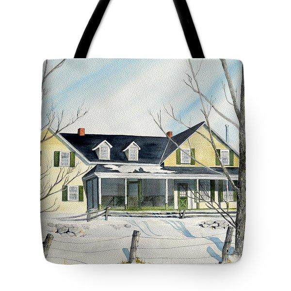 Elmridge Farm House Tote Bag by Jackie Mueller-Jones