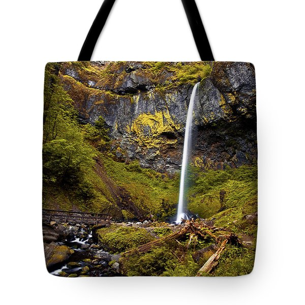 Elowah Falls Oregon Tote Bag