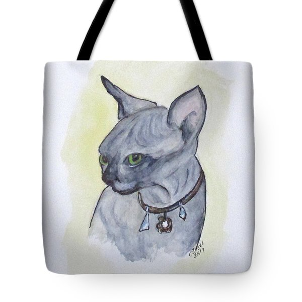 Else The Sphynx Kitten Tote Bag