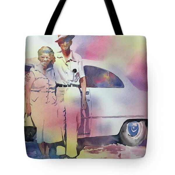 Elsie And Barney Shields Tote Bag