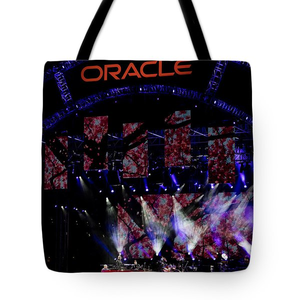 Elton John At Oracle Open World In 2015 Tote Bag