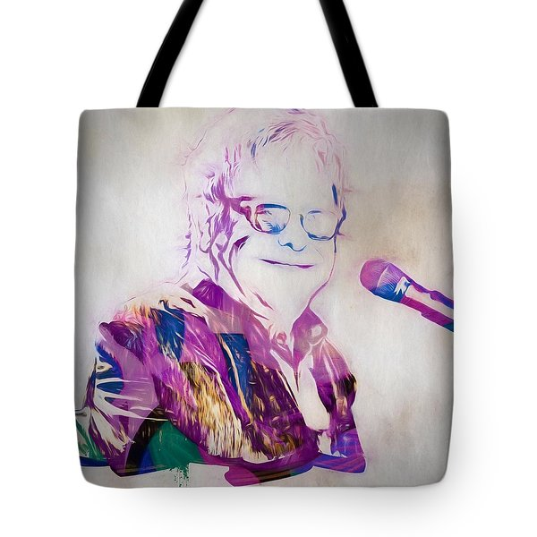 Elton John Tote Bag by Dan Sproul