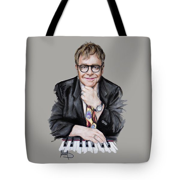Elton John Tote Bag by Melanie D