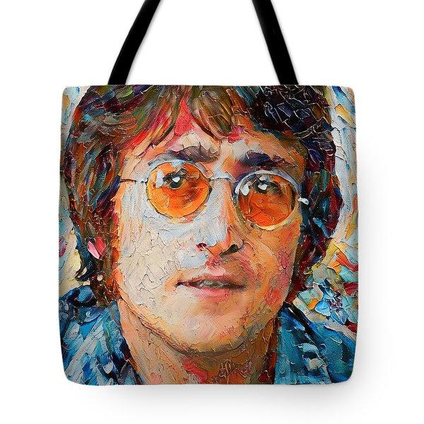 Elton John Portrait Impasto Tote Bag by Yury Malkov