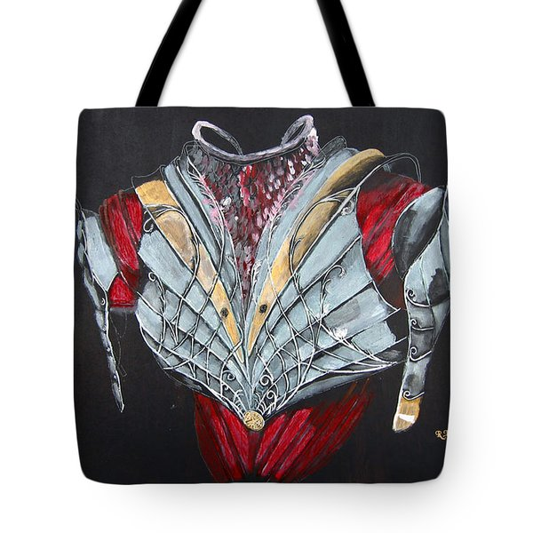 Tote Bag featuring the painting Elven Armor by Richard Le Page