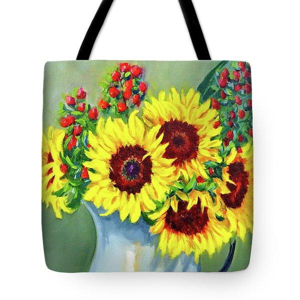Elvie's Sunflowers Tote Bag