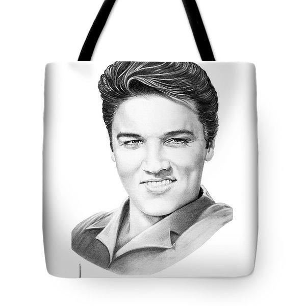 Elvis Aaron Presley Tote Bag by Murphy Elliott