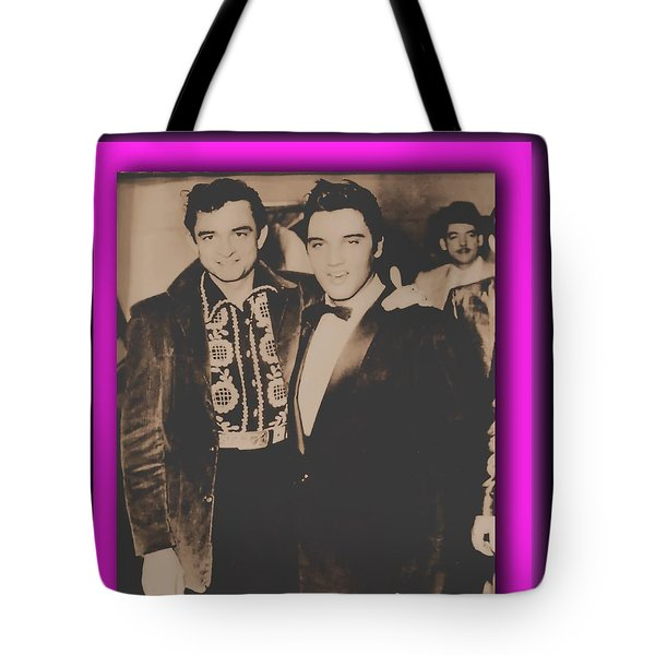 Elvis And Johnny Tote Bag