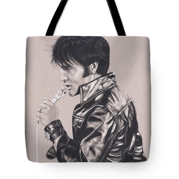 Elvis In Charcoal #177, No Title Tote Bag