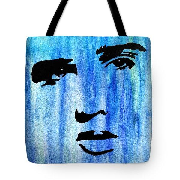 Elvis Presley Blue  Tote Bag by Shawn Brandon