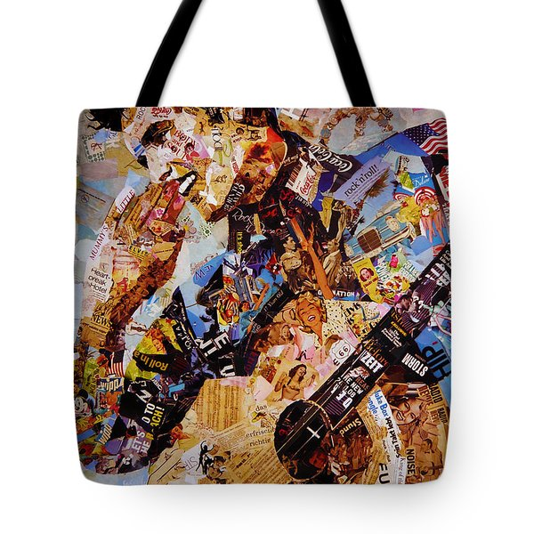 Elvis Presley Collage Art  Tote Bag by Gull G