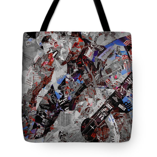 Elvis Presley Collage Tote Bag by Gull G