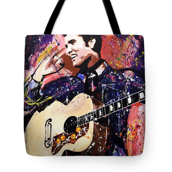 Elvis Presley Tote Bag