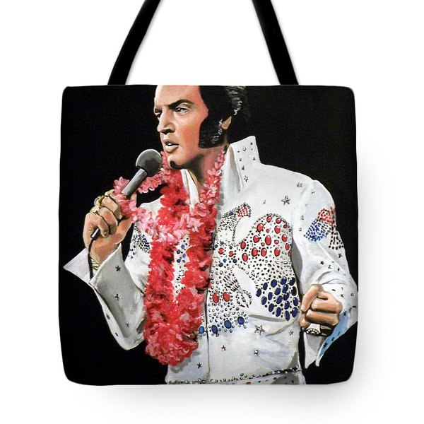 Elvis Tote Bag by Tom Carlton