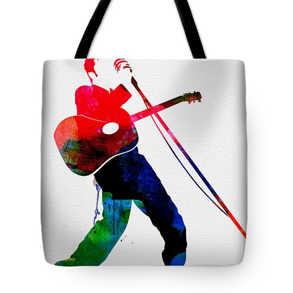 Elvis Watercolor Tote Bag