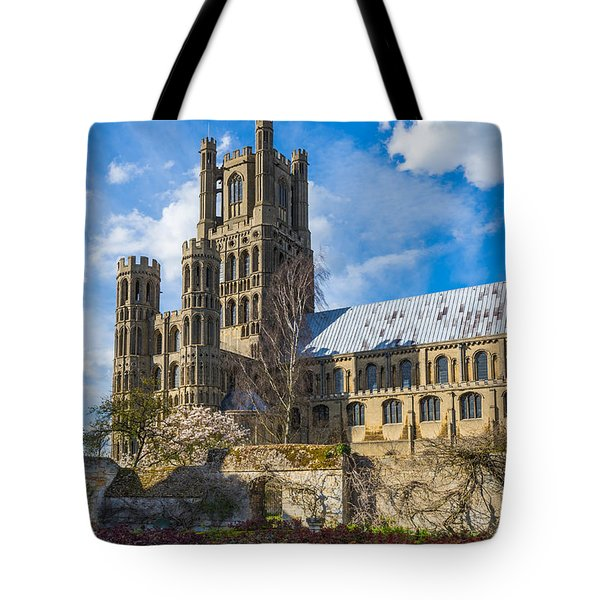 Ely Cathedral And Garden Tote Bag