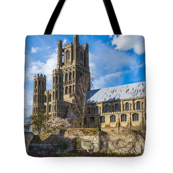 Tote Bag featuring the photograph Ely Cathedral And Garden by James Billings
