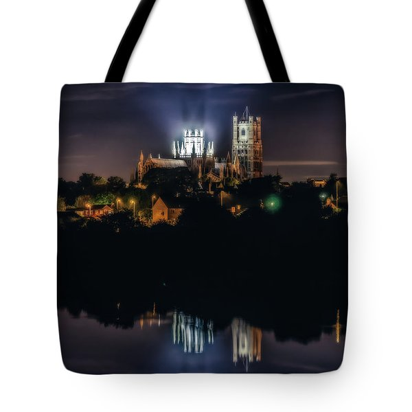 Tote Bag featuring the photograph Ely Cathedral By Night by James Billings