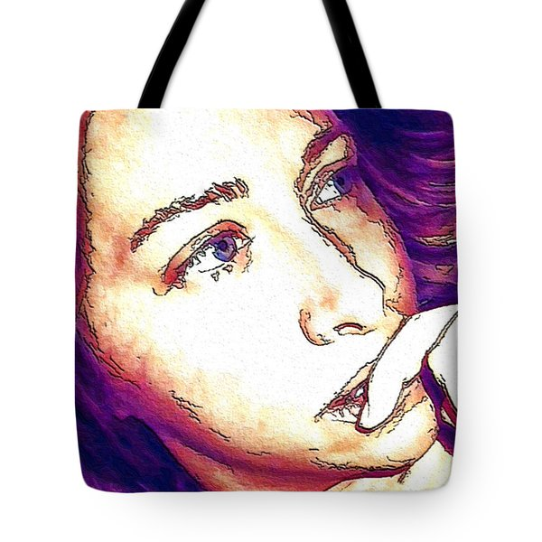 Tote Bag featuring the digital art Ely by Ely Arsha