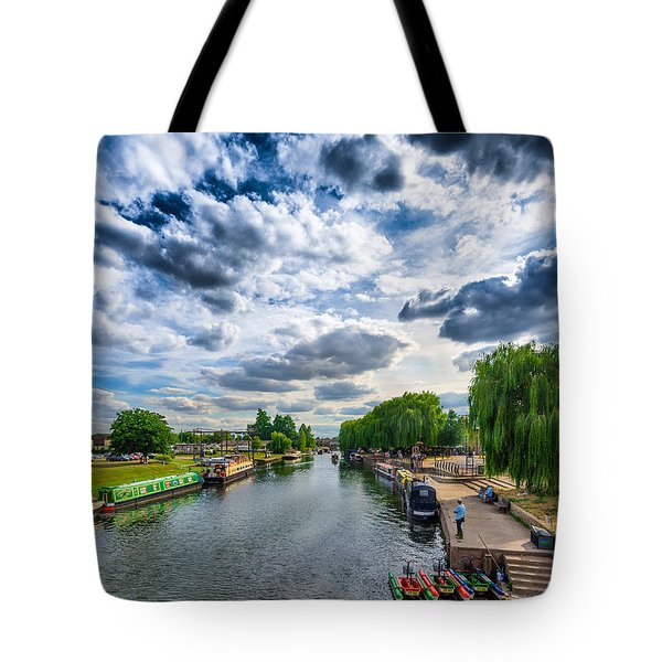 Tote Bag featuring the photograph Ely Riverside by James Billings