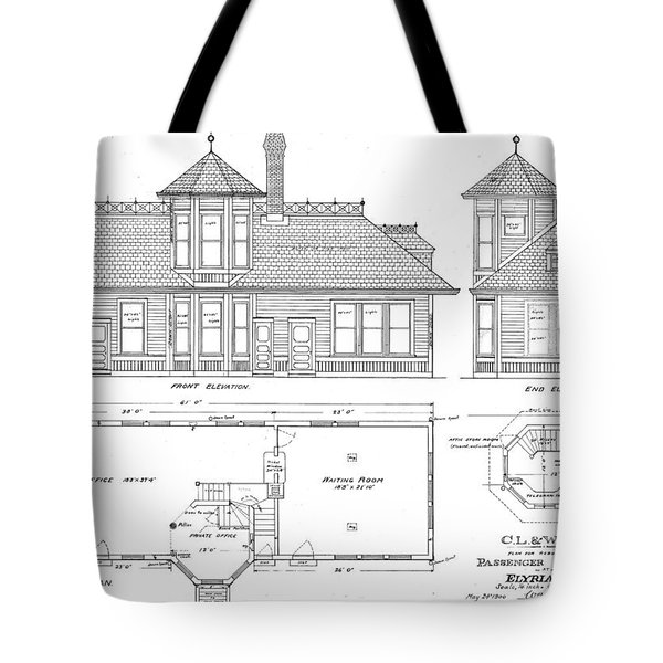 Elyria, Oh Station Tote Bag