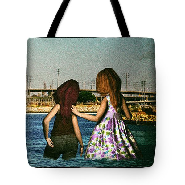Knee Deep Looking At The Port Tote Bag