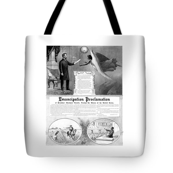 Emancipation Proclamation Tote Bag by War Is Hell Store