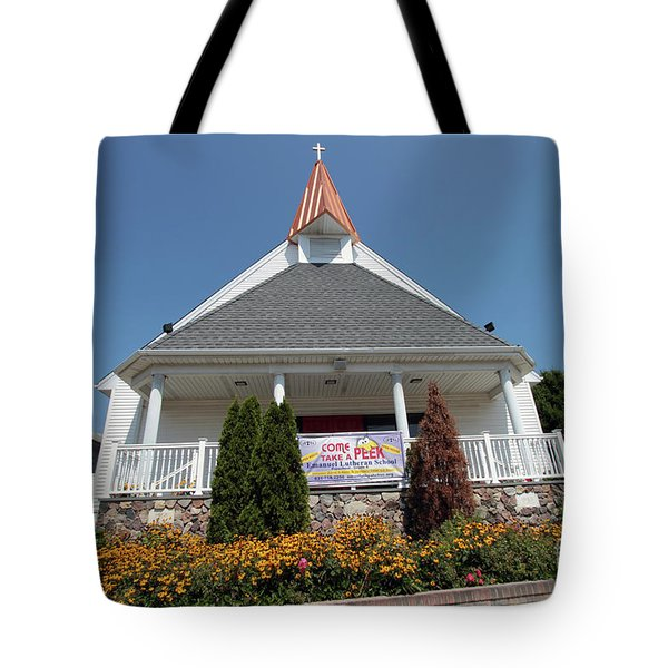 Emanuel Lutheran Church  Patchogue Ny Tote Bag