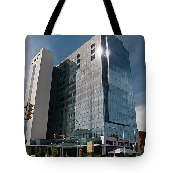 Tote Bag featuring the photograph Embassy Suites 2916 by Guy Whiteley