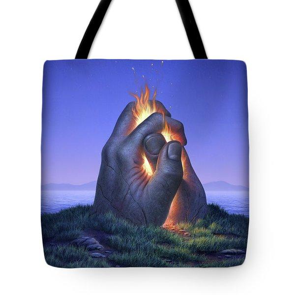 Embers Turn To Stars Tote Bag by Jerry LoFaro